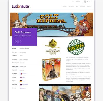 La page du jeu Colt Express sur le site de l'éditeur Ludonaute
