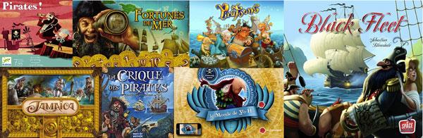 quelques uns des très nombreux jeux de pirate