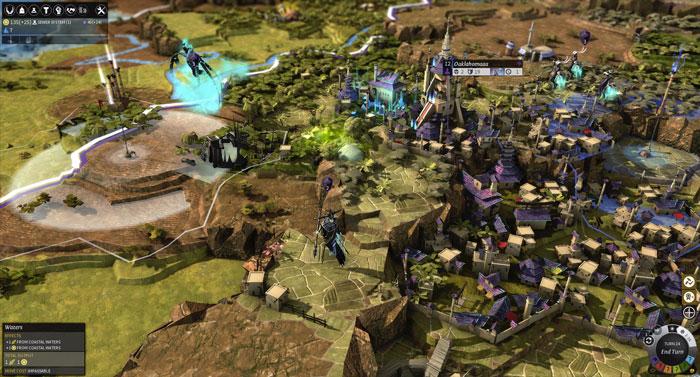 Écran extrait du jeu de gestion Endless Legend