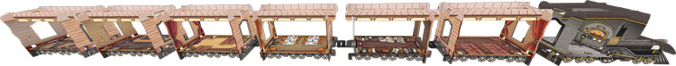 Le modèle 3D du train de Colt Express
