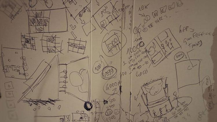 Des idées jetées sur le papier pour un projet dont on ne saura rien.