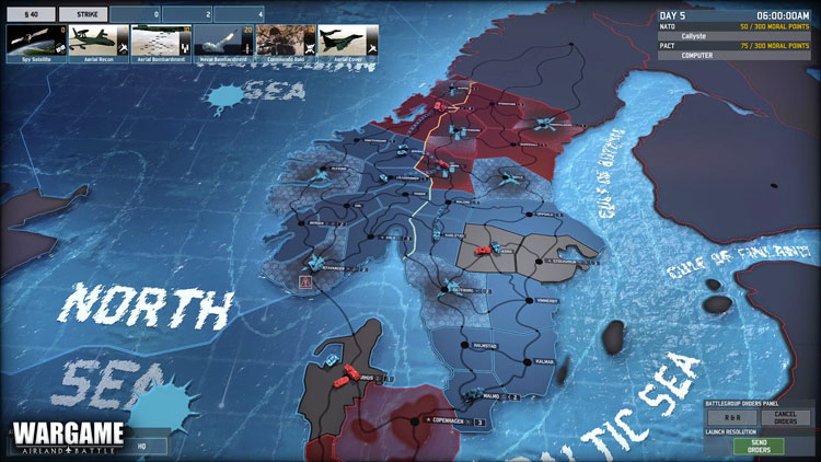 L'interface de Wargame Red Dragon (Eugen system)