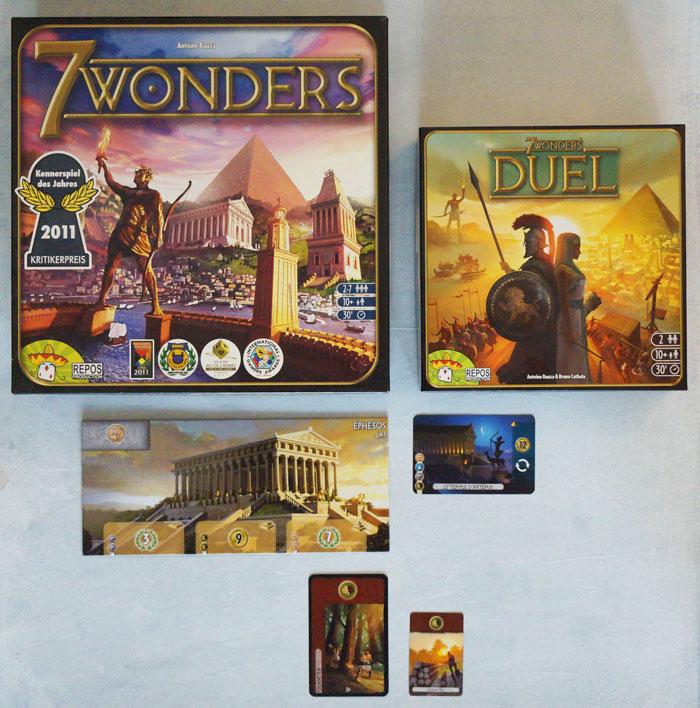 Tout est plus petit chez 7 Wonders Duel mais pas moins costaud.